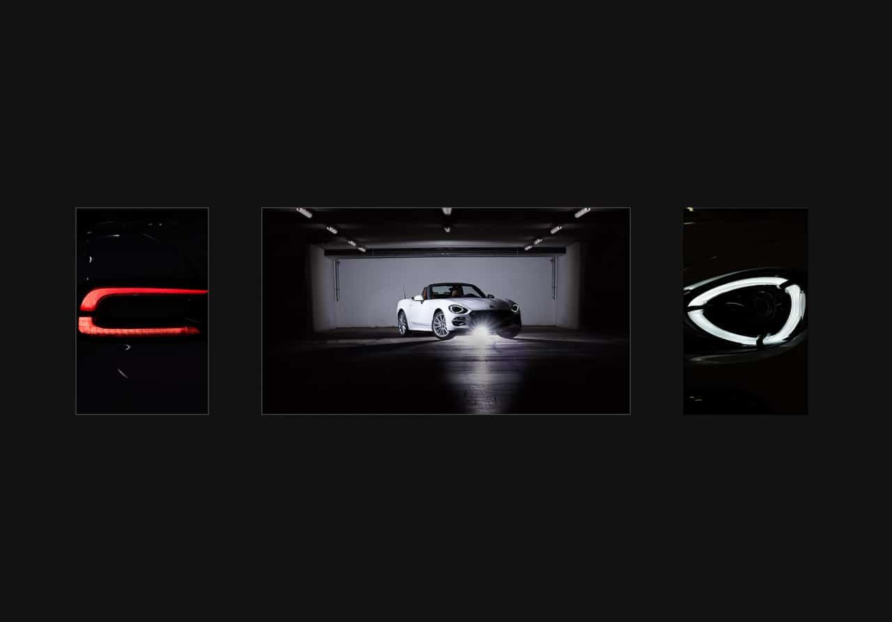 Triptychon mit Cabrio
